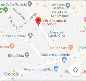 Detectives Privados Barcelona - Adb Detectives en Barcelona . Dirección - Vía Augusta nº 35 despacho 7 08006 Barcelona, 95X3+3G Barcelona